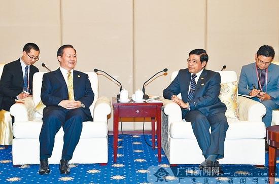 彭清华会见缅甸副总统吴年吞