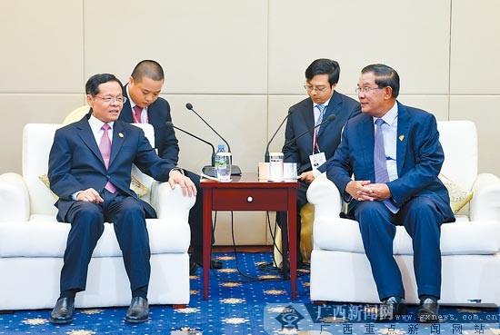 陈武会见柬埔寨首相洪森