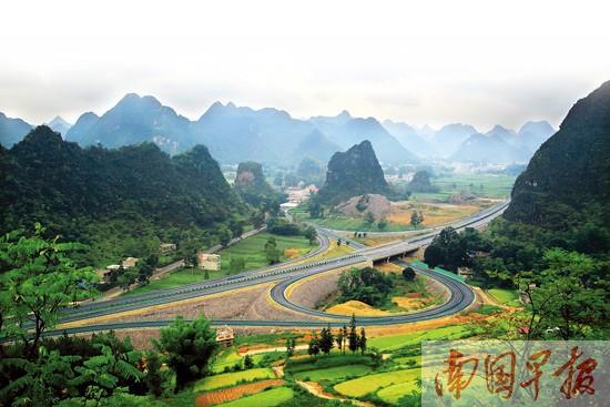 南宁去靖西3个小时可到 高速公路风景如画(组图)-广西