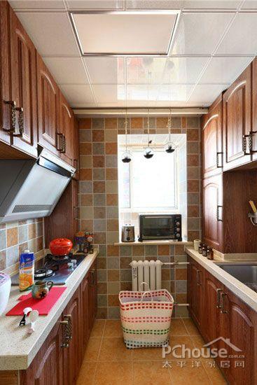 美式田园风格厨房装修效果图