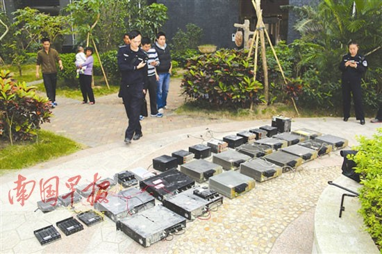 防城港:民警清剿22套非法无线电中继站设备被缴获