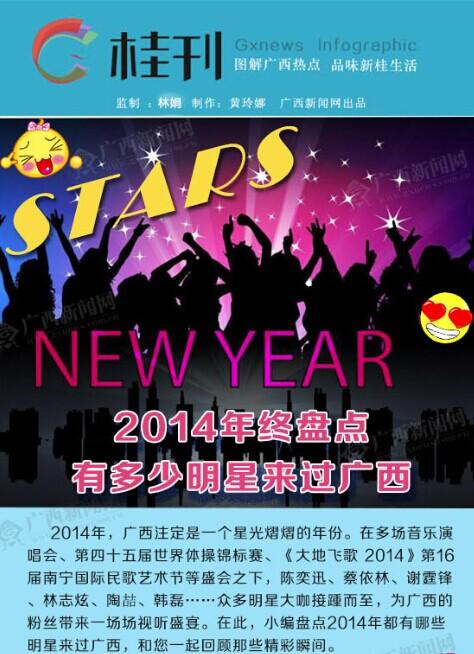 桂刊-盘点2014年都有哪些明星来过广西