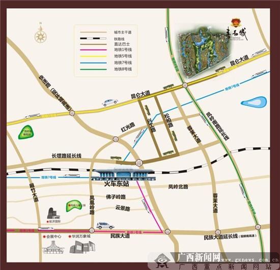 南宁首张市七城区地图