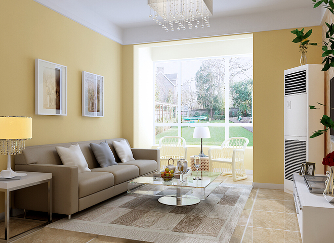 因電視背景墻面積有限,故主臥室門采用了隱形工藝,與電視墻合為一體.