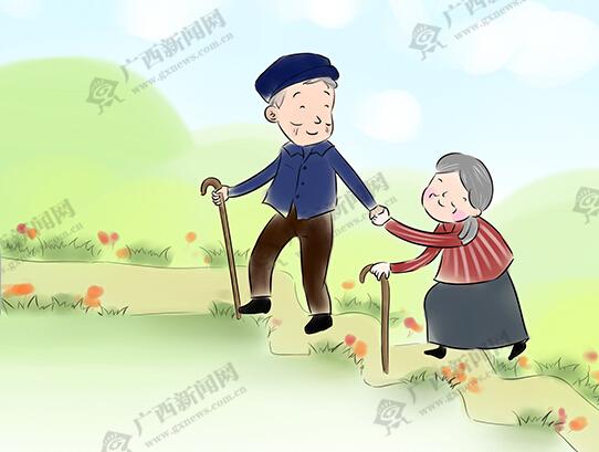 [新桂漫画]百岁夫妻相携78年演绎人间佳话
