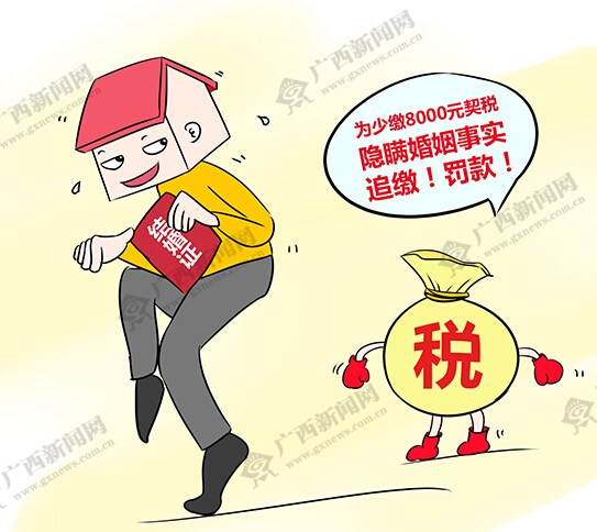 [新桂漫画]男子隐瞒婚姻为少缴税8000元