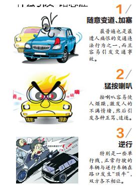 """""""路怒症""""极易引发交通事故 如何不做愤怒的司机"""