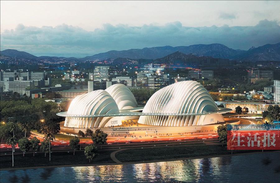 """评估建筑结构 广西文化艺术中心接受风洞""""吹风"""""""