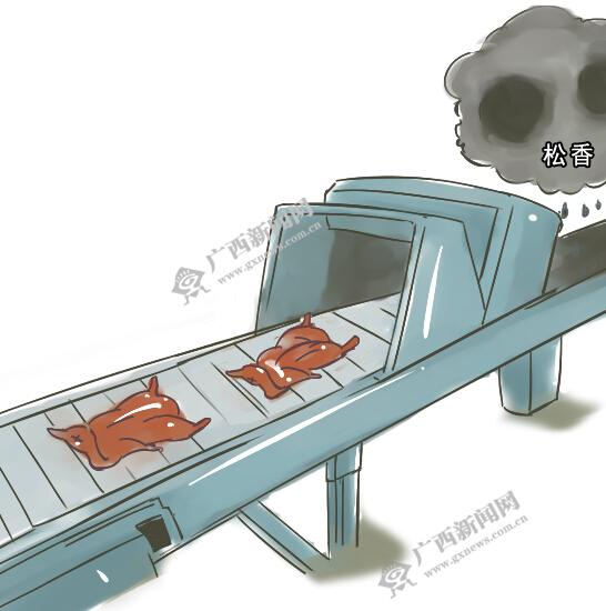 [新桂漫画]恶心!泡过黑液的烧鸭你敢吃吗?