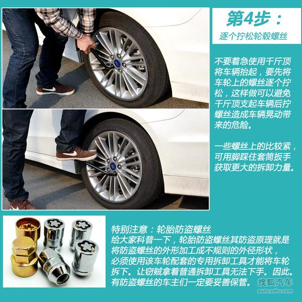搜狐用车小常识  5分钟教会你如何换轮胎