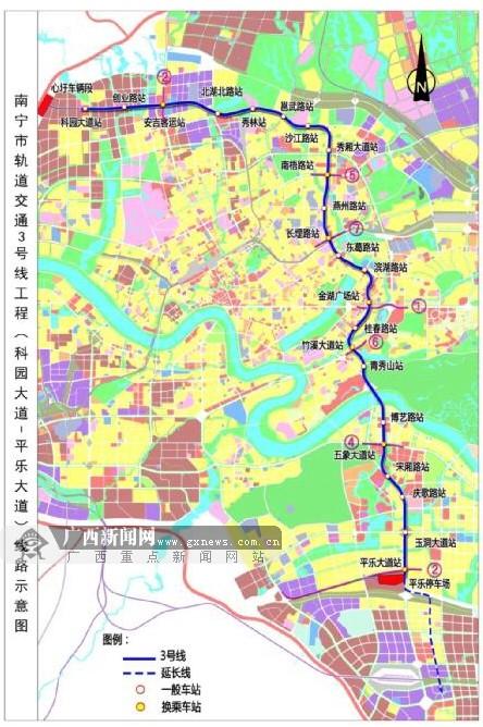 南宁地铁3号线全面开工 预计2019年底建成通车(图)