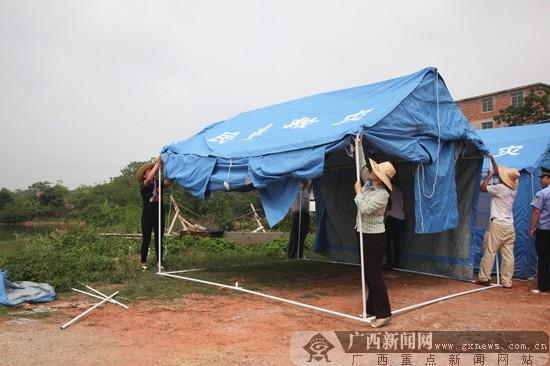 邕宁区开展防御山洪灾害演练