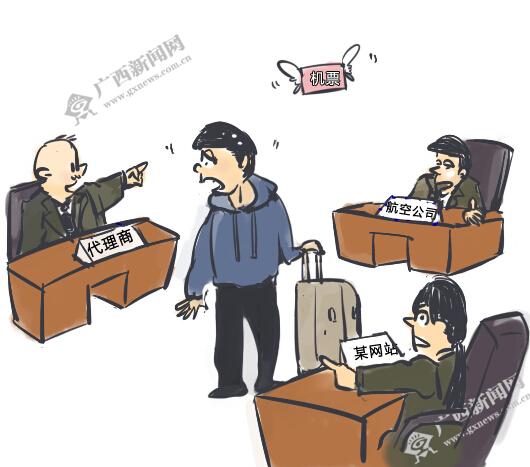 [新桂漫画]某网站上买机票 不知机票去哪儿了