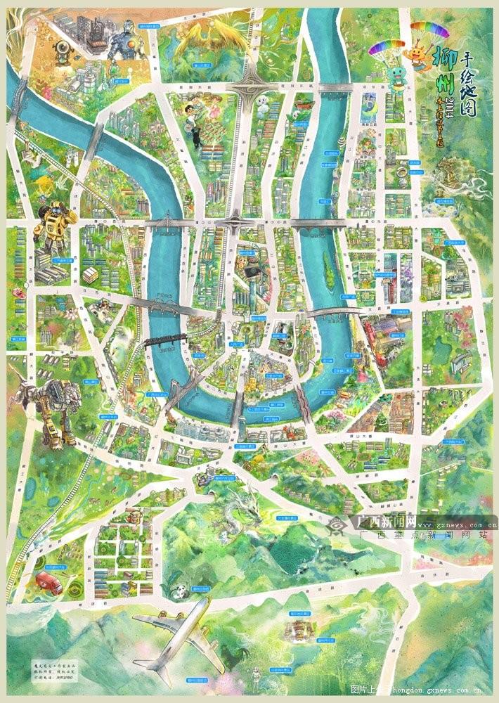 广西柳州市地图 柳州市城市职业学院 柳州市轻轨规划图高清