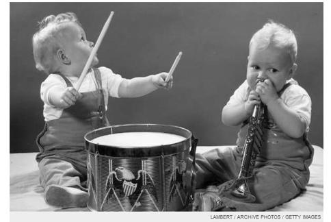 孩子学点音乐脑子灵活