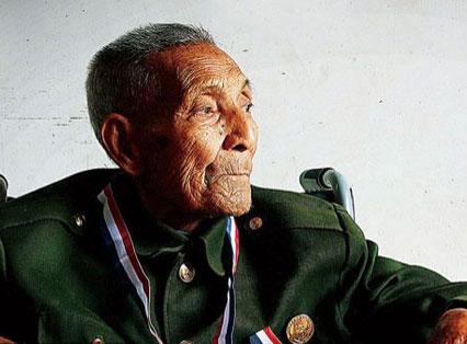 高清:抗战老兵的百岁寿诞 曾经随军参加徐州会战