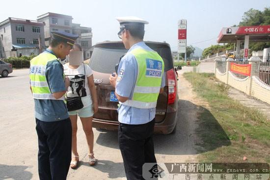 贺州交警联合多部门查处43起乡镇交通违法行为-广西图片