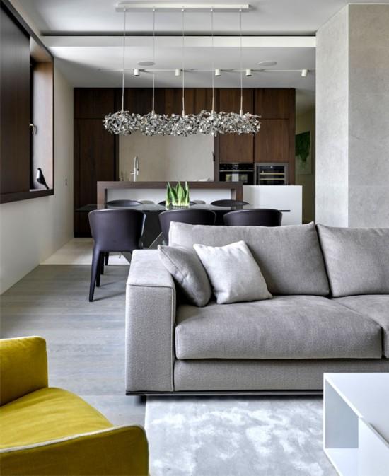 莫斯科现代风格家居装修设计案例欣赏