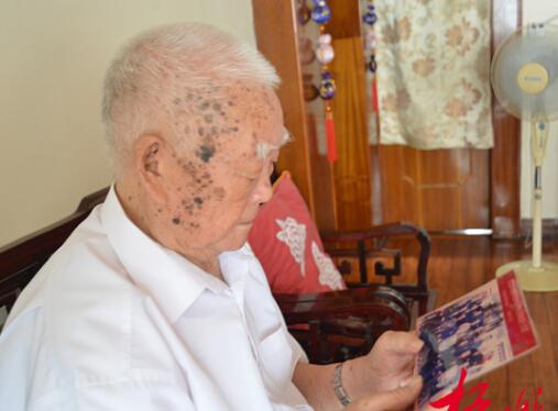 95岁老战士耿志常回忆投身抗战的故事