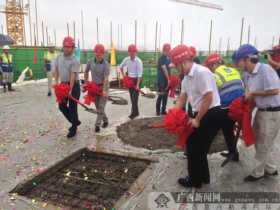 中国联通广西东盟信息交流中心一期建设项目主体工程顺利封顶