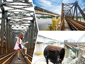 """高清:邕江铁路大桥""""退休"""" 引发市民的怀旧情结"""
