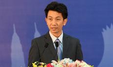 柬埔寨邮电部副国务秘书寇马卡拉在闭幕式上致辞