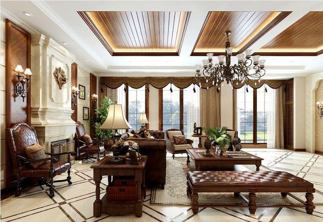 美式別墅客廳圖片大全