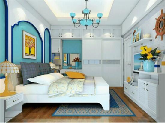 帶衛生間帶壁櫥的主臥裝修效果圖