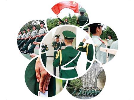 高清:南疆国门护旗队