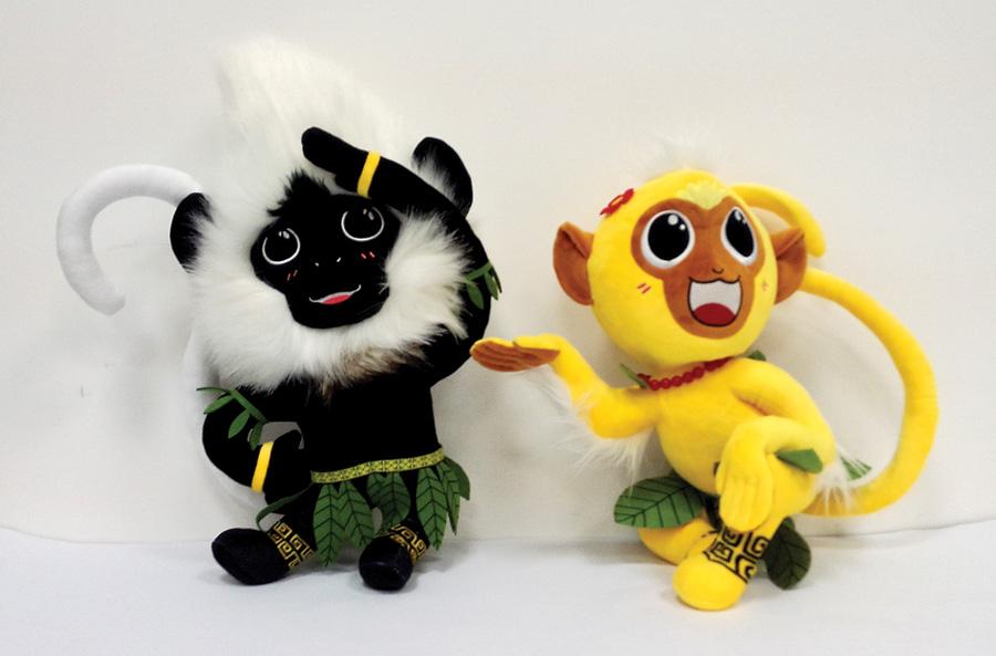 第七届广西园博会吉祥物出炉 设计原型为白头叶猴