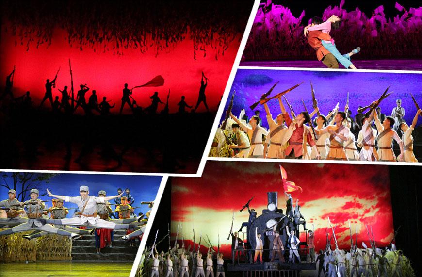 大型红色经典舞剧《铁道游击队》在南宁演出