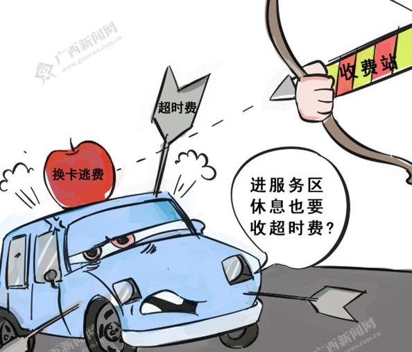 """[新桂漫画]高速公路""""超时费""""会误伤司机?"""
