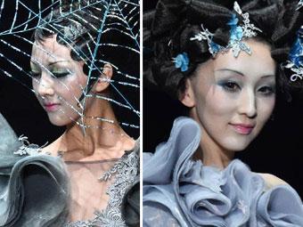 模特彩妆造型走秀t台图片