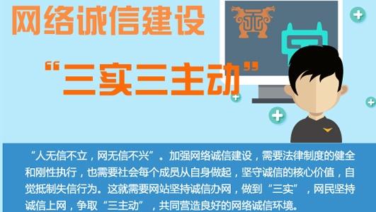 """【图解】网络诚信建设""""三实三主动"""""""