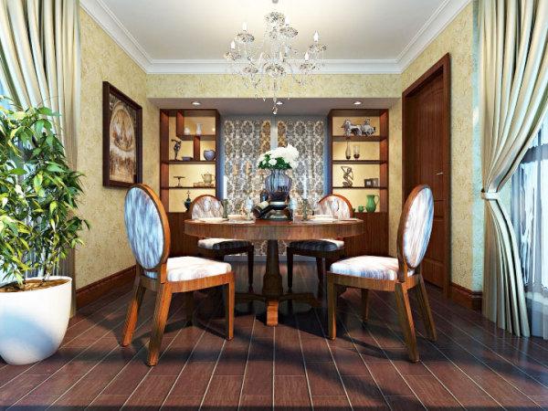 套美式壁纸装修的餐厅女人墙岁背景吗行30平面设计学图片