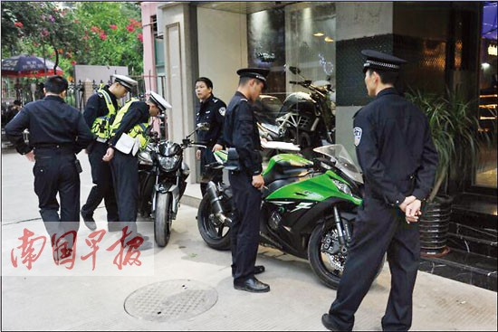 """南宁打击""""飙车党""""  查扣小汽车4辆摩托车16辆"""