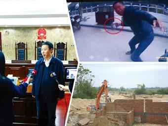 12月15日焦点图:男子闯红灯被拦 拿铁锁猛砸协警