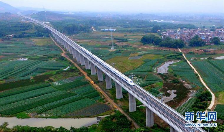 高清:广西高铁快速发展