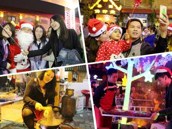 高清:激情平安夜!南宁唐人文化园欢乐迎圣诞