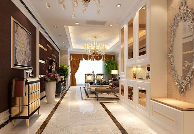 欧式古典别墅客厅装修效果图大全2015图片