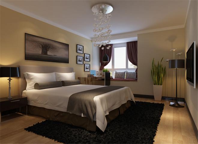现代二居卧室装修效果图大全2015图片