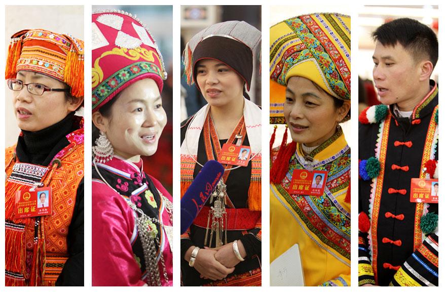 [高清]自治区十二届人大五次会议的少数民族代表