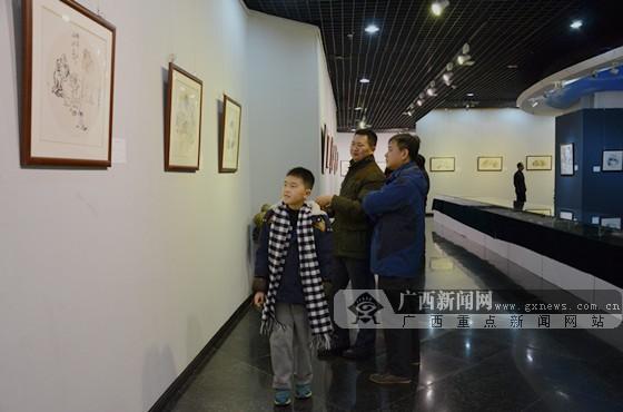 江舟画展在南宁举办