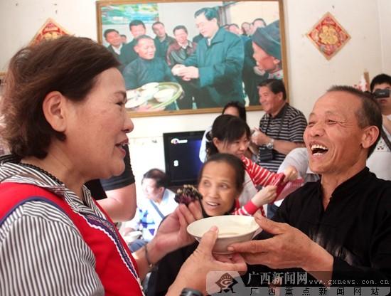 """台湾少数民族代表与壮家儿女欢度""""壮族三月三"""""""