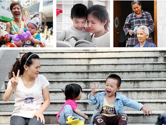 高清:母亲一生都在付出 母亲节看她们的幸福时刻