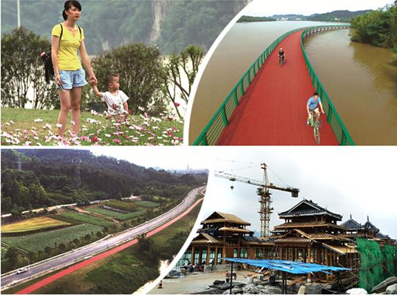 高清:柳州环江滨水大道不光颜值高 机能也完善