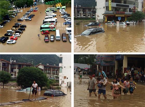 高清组图:直击阳朔西街洪水灾情