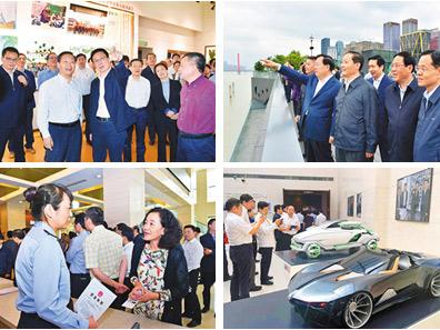 高清:广西党政代表团赴浙沪学习考察掠影