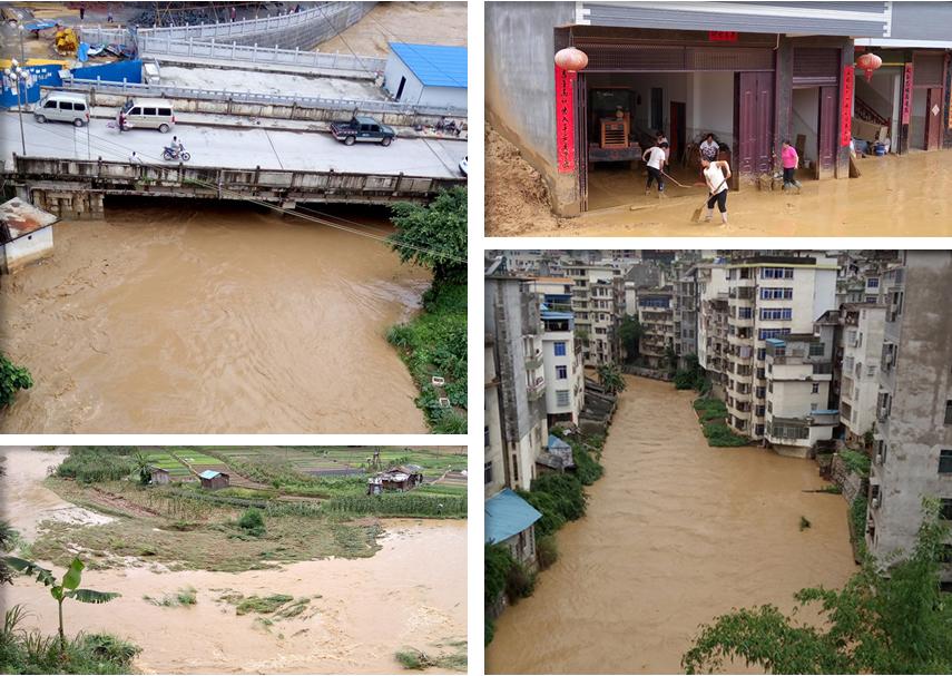 高清:隆林遭受强降雨袭击