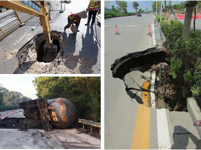 6月28日焦点图:柳州市路面频现坑洞